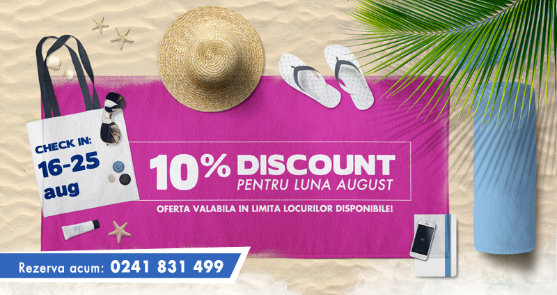 Hotel Mercur Minerva, Mamaia – 10% Discount pentru luna august
