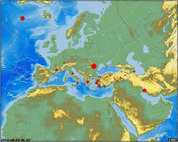 Cutremur cu magnitudinea 5,6 in zona Vrancea, resimtit in Bucuresti