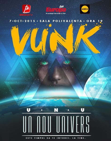 "Premiera in Romania, filmare 360 de grade la concertul Vunk ""Un nou univers"""