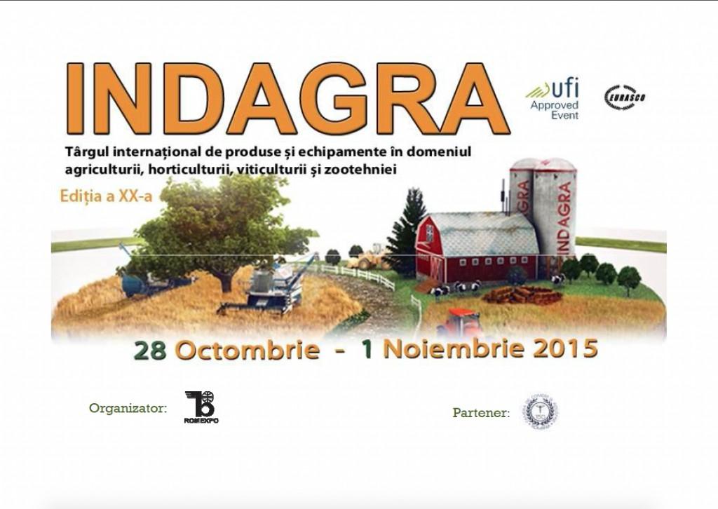 INDAGRA – Targul international de produse si echipamente in domeniul agriculturii, horticulturii, viticulturii si zootehniei