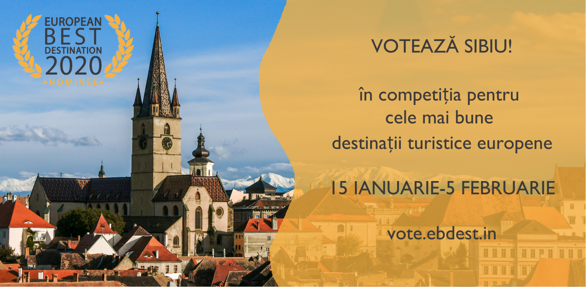 Sibiul, nominalizat printre cele mai bune destinații turistice din Europa